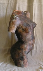 Woodfired female torso