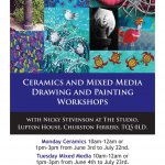 Ceramics and Mixed Media Workshops at The Studio, Lupton House.
