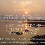 DAVID BLAKELEY PHOTOGRAPHY - change of correspondence address