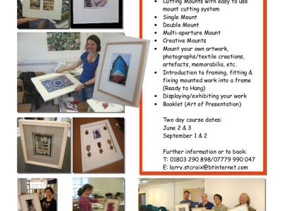 Mounting, Framing, Display & Exhibition Workshops