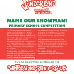 Name our snowman - win skating tickets for your whole class!