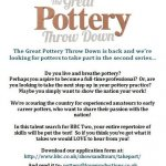 THE GREAT POTTERY THROW DOWN IS BACK!