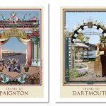 Vintage Inspired Travel Posters of Paignton and Dartmouth