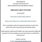 'BRITAIN'S BEST POTTER' - deadline extended