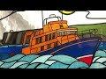 Brixham RNLI Lifeboat round porthole window.