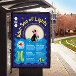 Adur Sea of Lights Corporate Identity Poster Design
