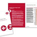 Brochure design: Post Office Holiday Travel Money Annual Report