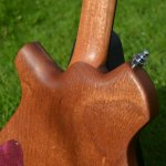 Close up of the Neck/body joint on the electric guitars