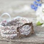 Floral plaited bracelet