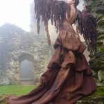 Golden Eagle gown from 'Worn to be Wild' touring exhibition