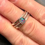 Opal and Silver Stacking Rings