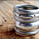 Stacked textured rings