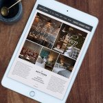 Website design for boutique hotel and restaurant