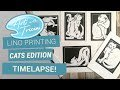 Lino printing time-lapse Cat series